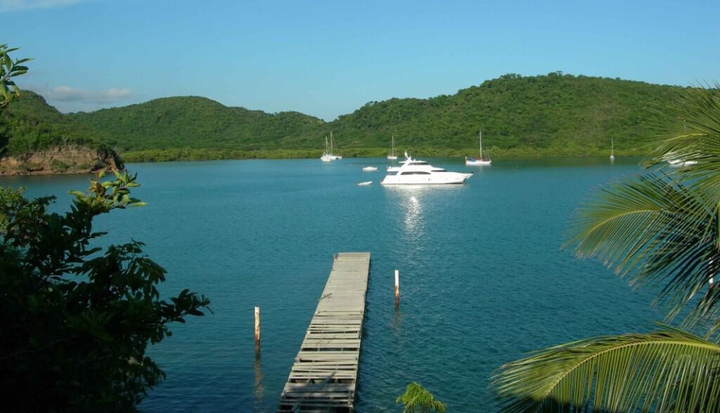Mt Hartman, home of the rare Grenada dove, from Martin's bay Marina. Photo: Denyse Ogilvie