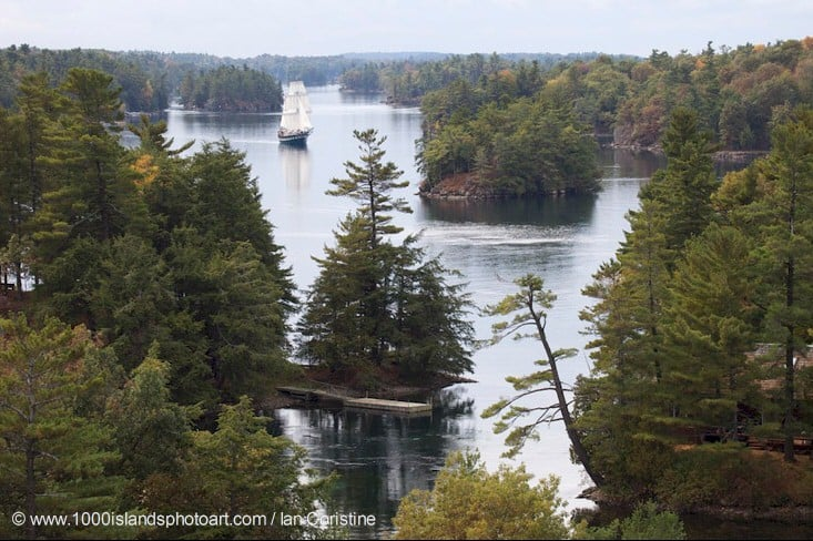 Thousand Islands, St Lawrence River. Photo: Ian Coristine.