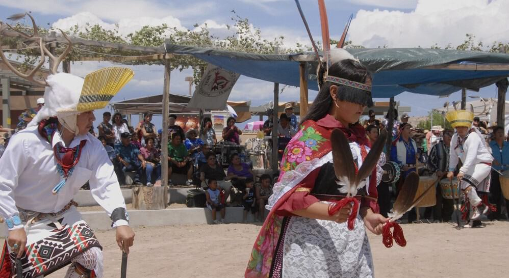 Dancers from the Pueblo of Ohkay Owingeh perform at an arts & crafts show, New Mexico. Photo: Seth Roffman