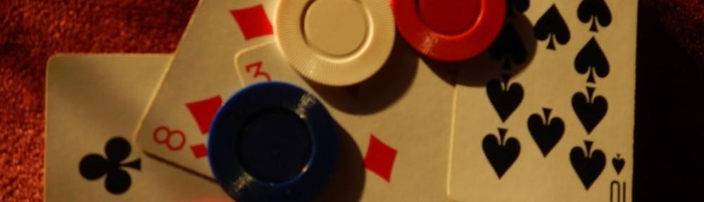 Gambling: Poker chi[s and a losing hand.