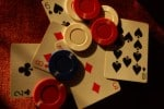 Gambling: Poker chi[s and a losing hand.