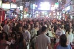 A few tourists seek nightlife in Phuket. Photo: Terrazzo.