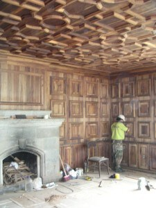 Interior, pre-restoration.