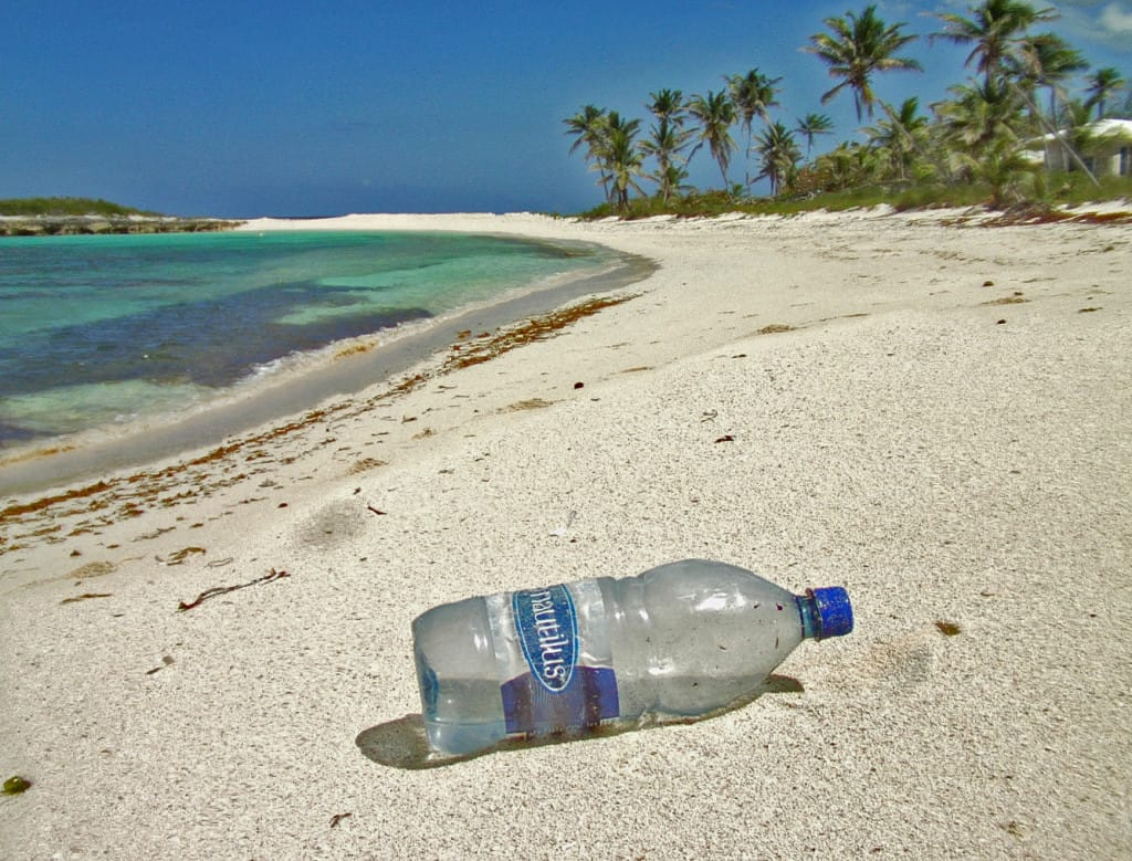 "A ""balanced"" beach with just the right amount of tourist trash in Eleuthera, Bahamas. Photo: Andy Dumaine."