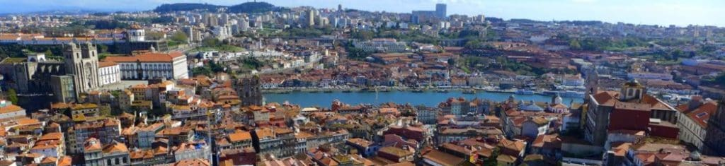 The historic center of Porto, Portugal.
